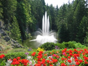 Butchart Gardens - Fountain