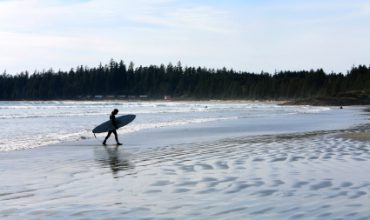Long Beach Surfer - Tofino on Vancouver Island