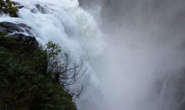 Spectacular Elk Falls Near Campbell River BC on Vancouver Island