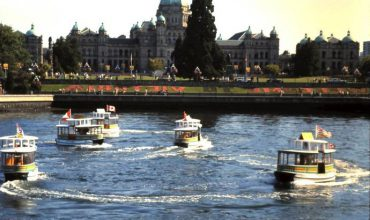 Witness the spectacle of the ferry ballet in Victoria, BC.