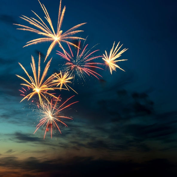 Fireworks light up Parksville beach for Canada Day