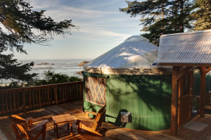 Yurt's at the Wya First Nation's campground near Ucluelet