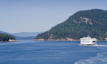 Ferry passes through Southern Gulf Islands
