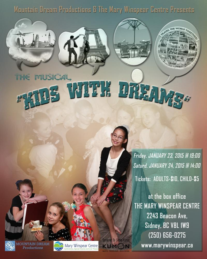 Victoria Events – Kids with Dreams Jan. 23-24, 2015